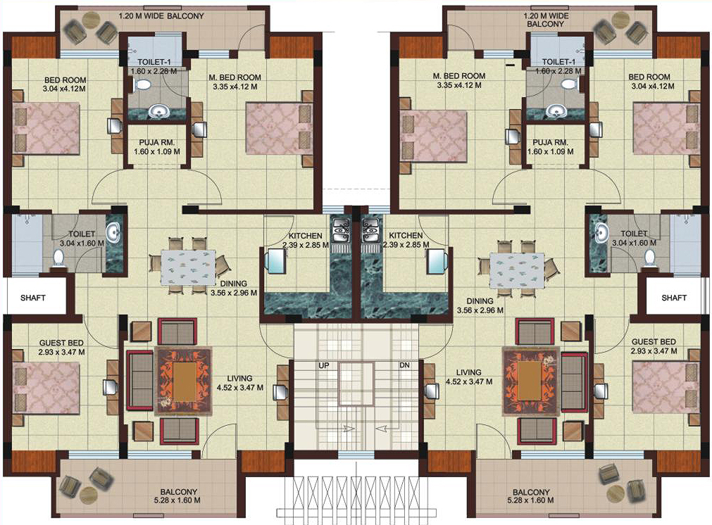 Architectural evaluation right choice ashiyana Apartment design floor plan